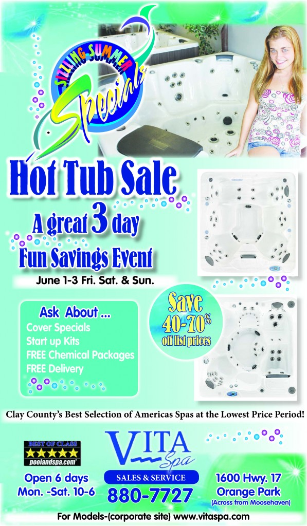 Specials | Vita Spa | New and Used Hot Tubs | Above Ground ...